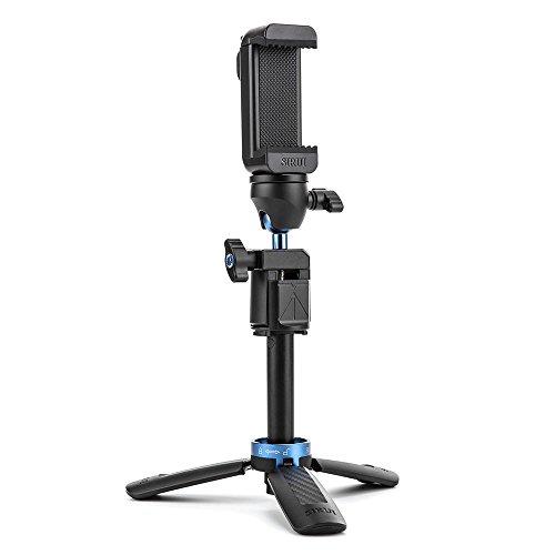 Sirui TSH-01B Table Tripod w/ Ball Head, Cell Phone Grip, Selfie Stick, Bluetooth Trigger
