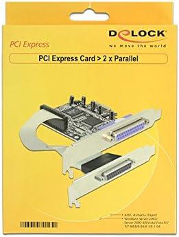 Import Royaume Uni DeLock Adaptateur parall/èle PCI Express 2 ports