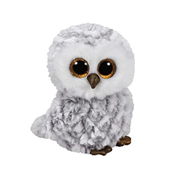 Ty - Beanie Boos Owlette, búho, 15 cm, Color Gris (United Labels