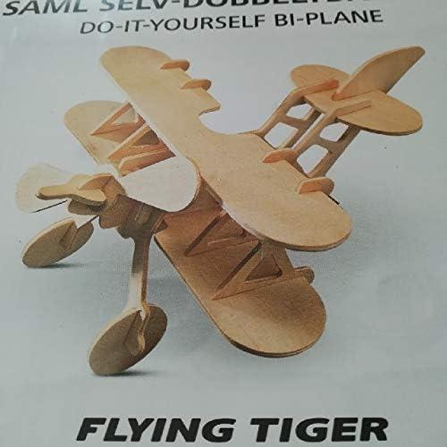 FLYING TIGER フライングタイガー 木製組み立て飛行機 木製玩具 飛行機 模型