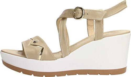 Nero Femme Giardini Chaussures Beige À Brides vvB7Rq