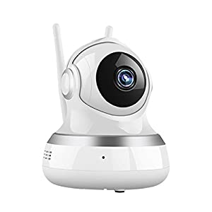BOOCOSA Wireless Security Camera,Usable as a Wi-Fi Baby Monitor, Nanny Cam, and Home Surveillance IP Camera - With Cloud Storage Capability, Night Vision, and Pan-Two Way Talk