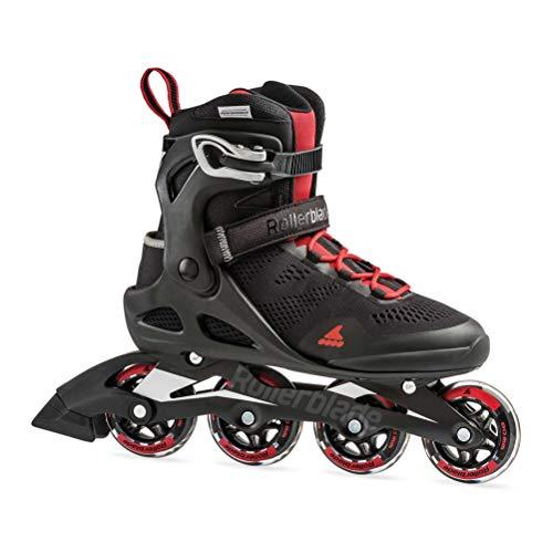 Rollerblade Macroblade 80 Men's Adult Fitness Inline Skate, Black/Red, Medium 11