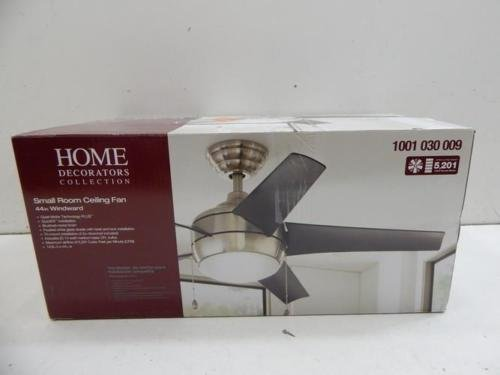 Authentic Home Decorators Collection 44 Inch Windward Brushed Nickel Ceiling Fan Free Shipping