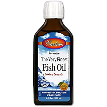 Carlson Labs Very Finest Fish Oil Nutritional Supplement, Orange, 6.7 Fluid Ounce
