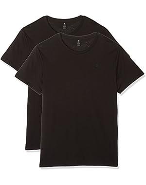 Men's Base Heather Round Neck Tee Short Sleeve 2-Pack