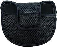 Golf Putter Cap Golf Putter Head Cover Reusable Golf Club Mallet Meshy Putter Cap with Fastener Tape Blue