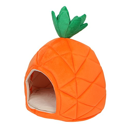 Yumian Pineapple Design Pet House Dog Warm Cave Nest Cozy Sleeping Bed for Dog & Cat Puppy,Sleeping Bag Ideal for the Pet Under 8Kg