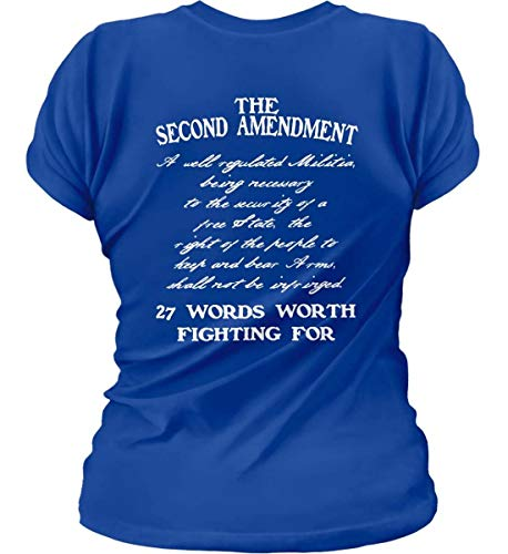 Sons Of Liberty The Second Amendment. 27 Words Worth Fightin WOM Royal/XL T-S.