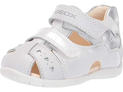 Geox Kids Baby Girl's Kaytan Girl 53 (Infant/Toddler) White/Silver 23 M EU