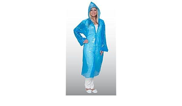 500 unidades Visitantes Bata/desechables Abrigos - con capucha - Botones de presión - Talla única XL - empaquetado por separado., color azul: Amazon.es: ...