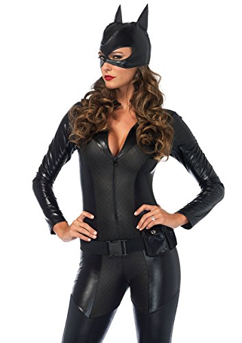Leg Avenue Women's Sexy Crime Fighter Costume, Black, Small]()