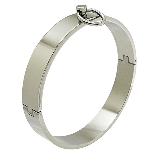 ACECHANNEL Polished Shining Stainless Steel Lockable Neck Collar Choker Necklace
