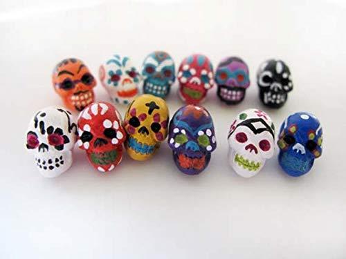 Design Ideas - 10 Tiny Sugar Skull Beads - CB865 - Unique Selection -
