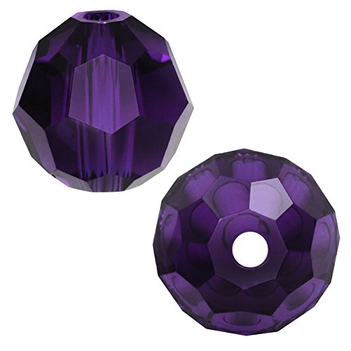 (Swarovski Crystal, 5000 Round Beads 4mm, 12 Pieces, Purple Velvet)