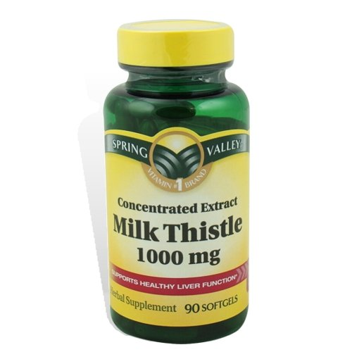 Spring Valley Milk Thistle 4:1 Extrait concentré de 1000 mg - 90 gélules