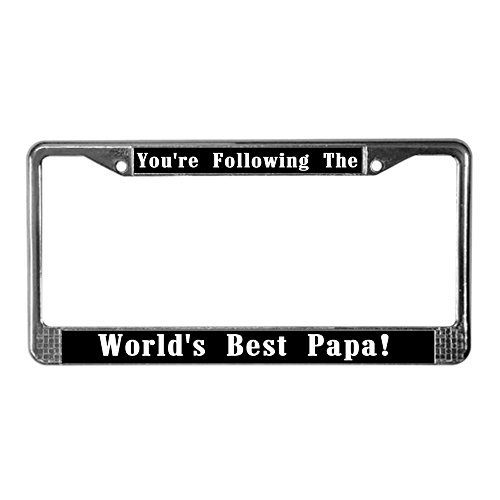 CafePress Worlds License Chrome Holder product image