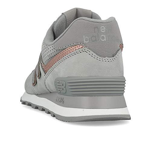 Grey Grigio Sneakers Donna WL574 Lacci NBN Balance Rosa Scarpe New WBx7Tnzz