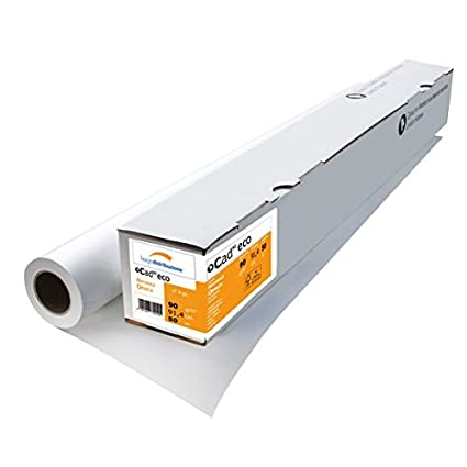 Burgo 179 papel de plotter, Cad, 91,4 cm, 50 m, 90 g/m² (paquete ...