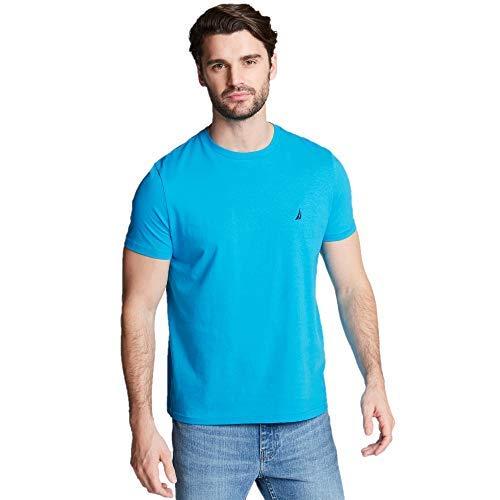 Nautica Short Sleeve Solid Crew Neck T-Shirt, Hawaiian Ocean, Small - Nautica Hawaiian Shirt