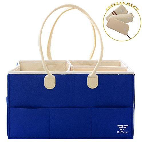 Waterproof Diaper Bag | Large Portable Car Organizer | Beach Bag | Pool Bag | Baby Shower Gifts by Ruffarri (Hanging Wine Caddy)