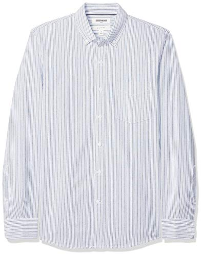 - Goodthreads Men's Slim-Fit Long-Sleeve Stripe Oxford Shirt, Blue Narrow Stripe, Medium