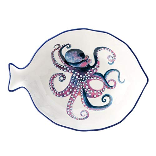 English Tableware Company Dish of The Day Octopus Design Serving Platter Snack Dish Appetizer Tray Large