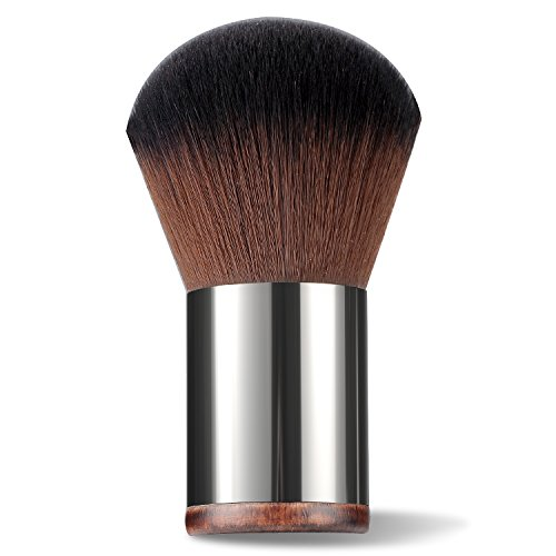 CLOTHOBEAUTY Pro Makeup Kabuki Powder Brush, Applying Loose/Compact Powder, Blush, Small Size with Travel Pouch -