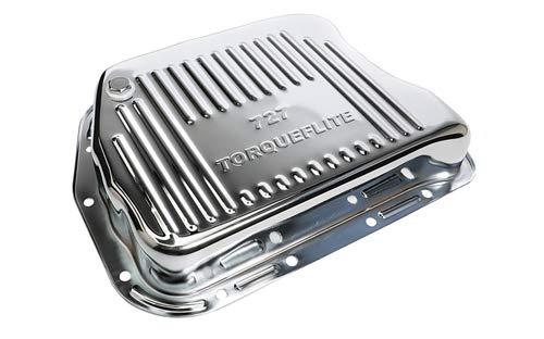 Trans-Dapt Performance 9108 Chrome Transmission Pan Torqueflite 727 Finned 1.75 in. Depth Extra Capacity Chrome Transmission Pan