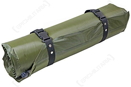 Mil-Tec Self Inflating Thermal Camping Roll Mat in Olive Green, Woodland Camo (Green) by Mil-Tec