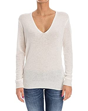 Theory Women's G0518749C05 White Cashmere Jumper