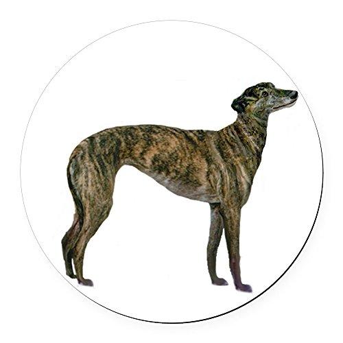 CafePress - Greyhound (Brindle) Round Car Magnet - Round Car Magnet, Magnetic Bumper Sticker