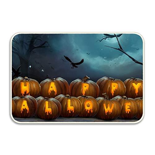 Elvira Jasper Happy Halloween Pumpkins Non-Slip Door Mat Doormat Door Mats Rug Entrance Mat Entry Rugs 20x32 -