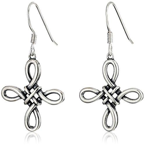 ized Celtic Knot Cross Drop Earrings (Celtic Cross Drop Earrings)