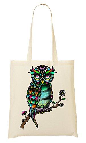 Sac Fourre Colorful Sac À Provisions Tout Owl Z5wqH