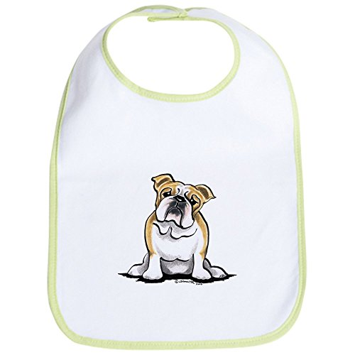 CafePress - Cute English Bulldog Bib - Cute Cloth Baby Bib, Toddler Bib