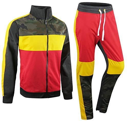 ALMAS APPAREL New Men Stripe Zip Pocket Track Pants Sweatsuit Mens Tracksuits