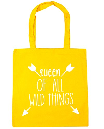 10 Tote Shopping Of Yellow HippoWarehouse All Wild Queen Gym 42cm Beach Bag Things litres x38cm TxH7C