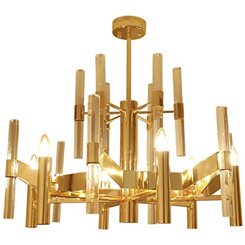 Y.H.Valuable Pendant Lights Super Deluxe Crystal Chandelier Modern 6 Simple Fashion Pendant Light Fixture Lighting Exhibition Hall Atmosphere E14 Living Room Chandelier -Lighting & Ceiling Fans