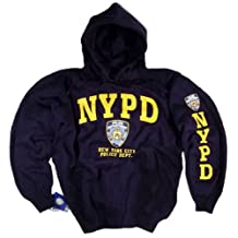 NYPD Hoodie Sweatshirt Cap Jacket Flag T-Shirt Blue Gear Hat Clothing Apparel