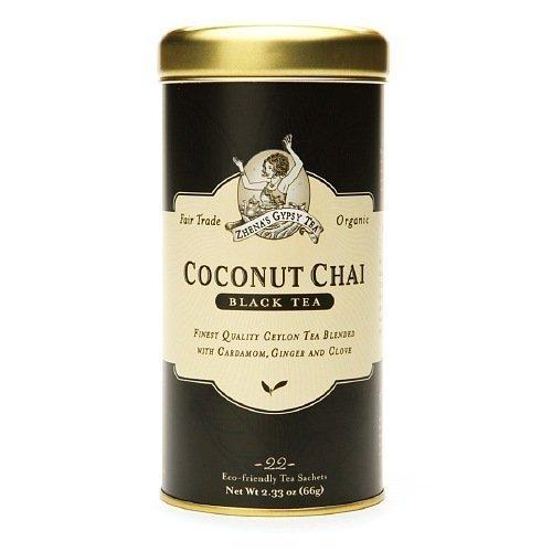 Zhenas Gypsy Tea Coconut Chai Tea, 22-Count Tin 2.33 OZ by Zhena's Gypsy - Zhena Gypsy Tin