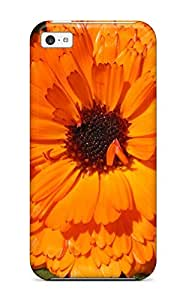 New Style Premium orange Flowers Case For Iphone 5c- Eco-friendly Packaging