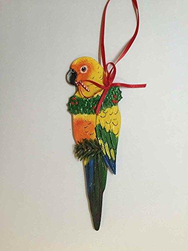 Parrot Christmas Tree Ornament - Sun Conure Parrot Christmas Tree Ornament