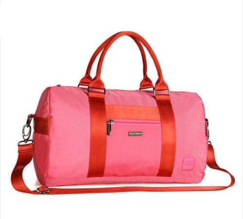 Al aire libre Peak para hombre de viaje Casual Deportes Hombro Bolsos equipaje Fitness rosa