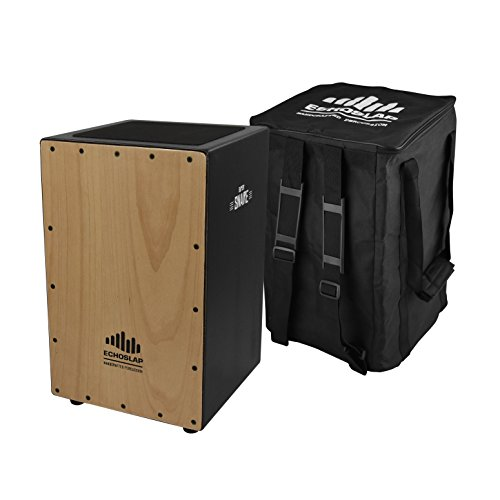 Echoslap Siam Oak Super Snare Cajon - Handmade, Siam Oak Body, Maple Frontplate, 21 Snare Wires + Free Gig Bag