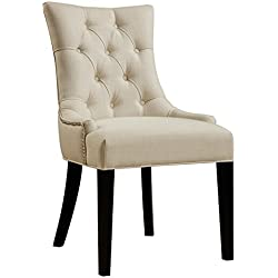 Pulaski Tufted Upholstered Dining Chair, White