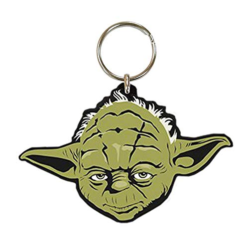 Pyramid International Star Wars Yoda Rubber Keychain, Multi-colour, 4.5 x 6cm