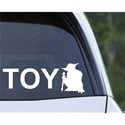 CCI Toyoda You and Yoda Decal Vinyl Sticker|Cars Trucks Vans Walls Laptop|White |5.5 x 2 in|CCI415: Automotive