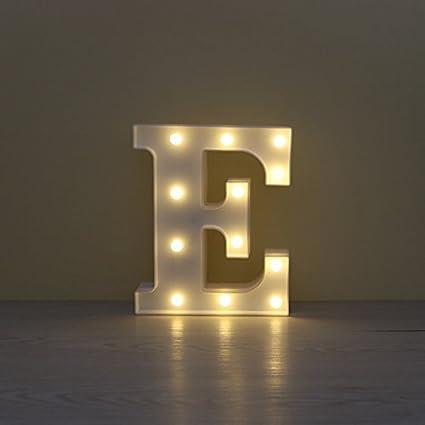 LED iluminar letra Pérgola alfabeto luces signo para casa decorativo festival Partito boda, gspirit: Amazon.es: Iluminación