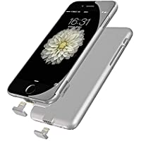 iPhone 7 Battery Case, Ultra Slim Extended Battery Charging Case for iPhone 7(4.7 inch) with 1500mah Real Capacity(Silver)